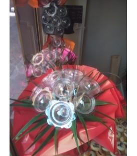 Bouquet de macarons 9 tiges fushia