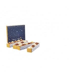Chemin de table noël 36 macarons personnalisés