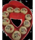 Boite coeur personnalisée Saint Valentin