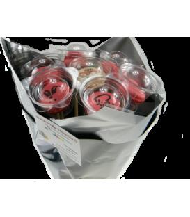 Bouquet de macarons 7 tiges Saint Valentin