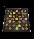 Boite Prestige 37 macarons personnalisés parfums aux choix