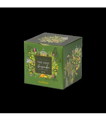 Thé vert gingembre aux deux citrons BIO, box métal
