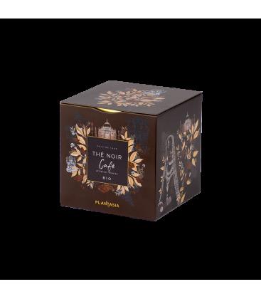 Thé noir au café BIO , box métal