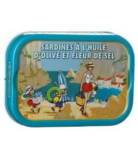 Sardines à l'huile d'olive et à la fleur de sel