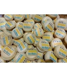 Macarons avec votre Logo par alvéoles  de 48
