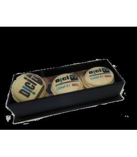 Boite black 3 macarons personnalisés