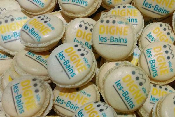 Mairie de Digne les Bains Macarons personnalisés